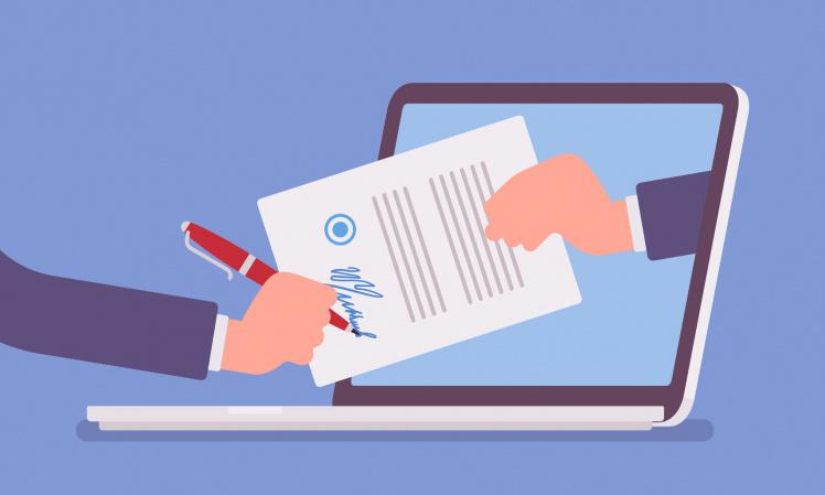 online geschlossene Verträge