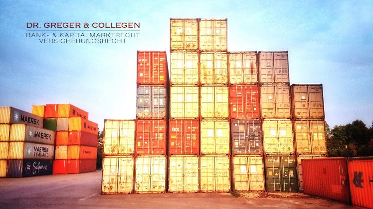 Kanzlei Dr. Greger & Collegen informiert zu P&R Containern