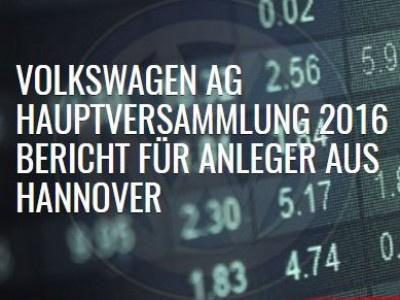 VW: Hauptversammlung Volkswagen AG in Hannover - Bericht von KAP Rechtsanwälte (Teil 1)
