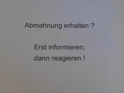 Hinweise und Tipps zur Abmahnung für Abgemahnte von Rechtsanwalt Andreas Kempcke von Internetrecht-Rostock.de