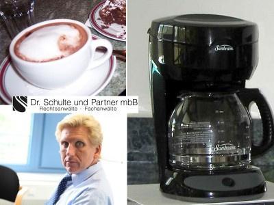 Kaffeemaschinenfälle: Amtsrichter werden vom  Bundesverfassungsgericht zur Ordnung gerufen? - von Dr. Thomas Schulte