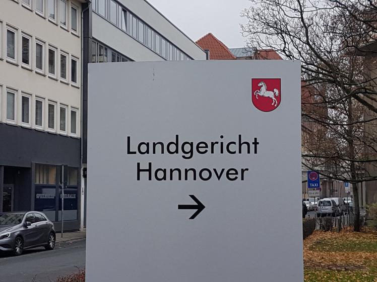 Wegweiser zum Landgericht Hannover