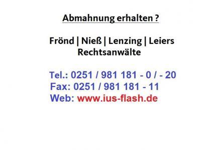 Vergleichsangebot der Debcon Debitorenmanagement und Consulting GmbH nach Abmahnung v. DigiProtect GmbH