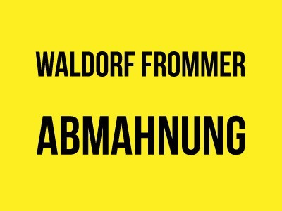 Waldorf Frommer – Abmahnung Der Marsianer - Rettet Mark Watney - Twentieth Century Fox Home Entertainment Germany GmbH wegen Filesharing - Fachanwalt