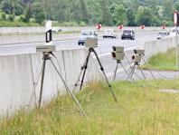 Blitzer auf einer Bundesautobahn
