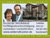 Kreditwiderruf – Widerrufsjoker. AXA. Textbaustein/Muster-Brief. Achtung: Frist 21. Juni 2016.