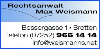Rechtsanwalt Max Weismann