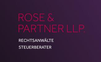 Kanzleilogo von ROSE & PARTNER LLP. Rechtsanwälte.